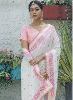 Silk Off White Traditional Designer Saree