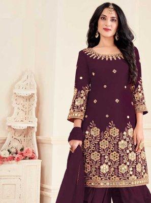 Silk Patiala Suit