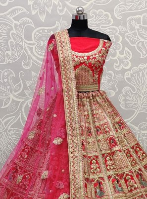 Silk Pink Diamond Lehenga Choli