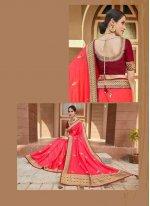 Silk Pink Trendy Saree