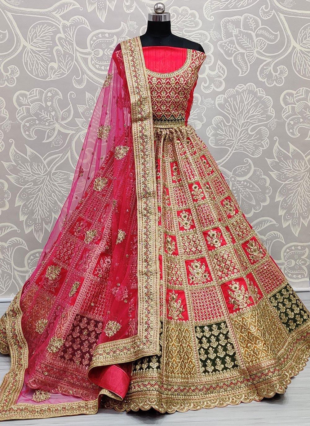 Silk Pink Zari Lehenga Choli