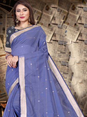 Silk Purple Traditional Saree