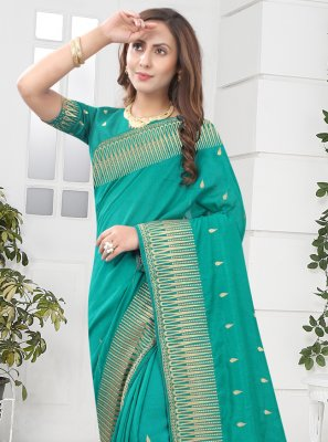 Silk Rama Designer Saree