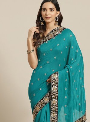 Silk Rama Designer Traditional Saree