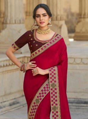 Silk Rani Designer Traditional Saree