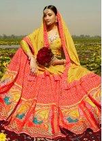 Silk Readymade Lehenga Choli in Red