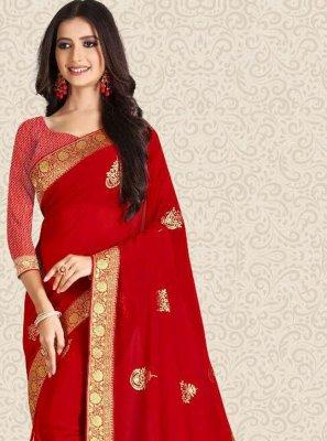 Silk Red Bollywood Saree