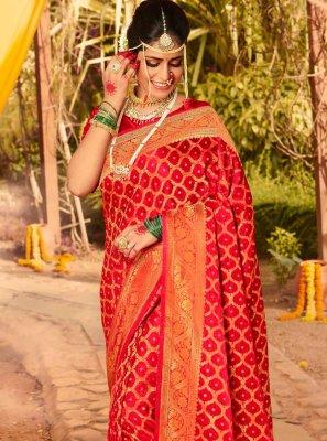 Silk Red Classic Saree