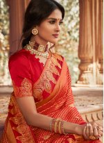 Silk Red Fancy Traditional Designer Saree