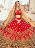 Silk Red Lehenga Choli
