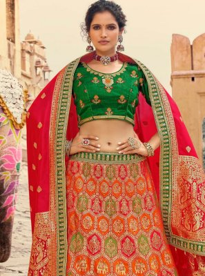 Silk Resham Lehenga Choli