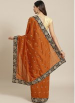 Silk Rust Traditional Saree
