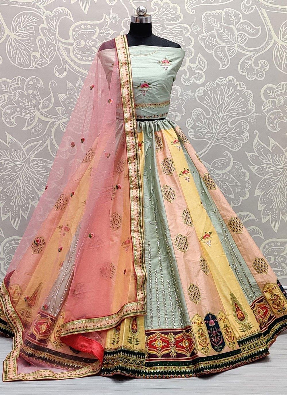 Silk Sangeet Lehenga Choli
