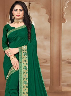 Silk Sea Green Bollywood Saree