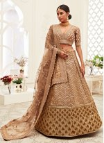 Silk Sequins Brown Designer Lehenga Choli
