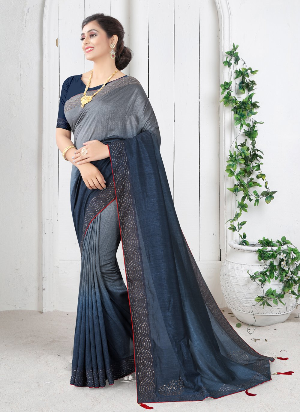 Silk Shaded Saree in Blue