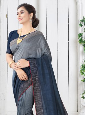 Silk Shaded Saree in Blue