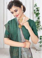 Silk Swarovski Shaded Saree