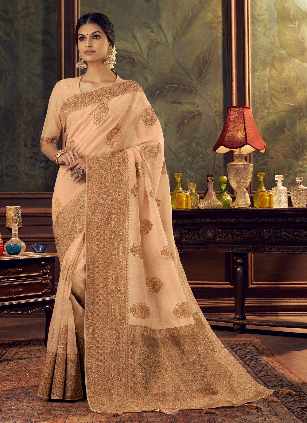 Silk Swarovski Traditional Designer Saree