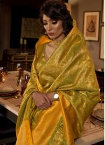 Silk Traditional Designer Saree in Green