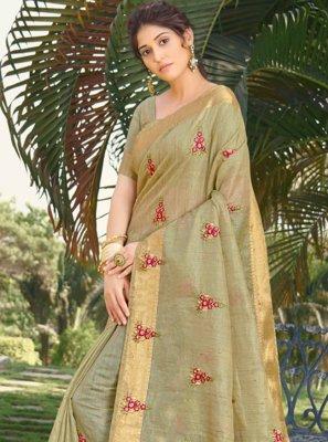 Silk Traditional Designer Saree in Green