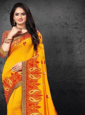 Silk Traditional Designer Saree in Yellow