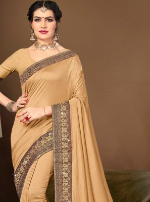 Silk Traditional Saree in Beige