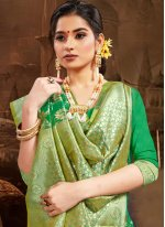 Silk Traditional Saree in Green