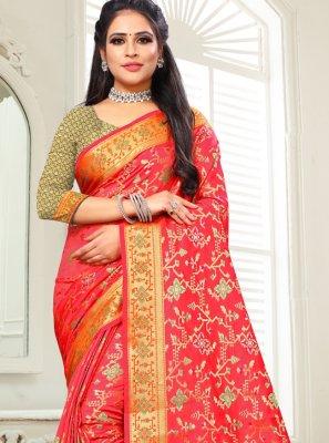 Silk Weaving Classic Saree in Red