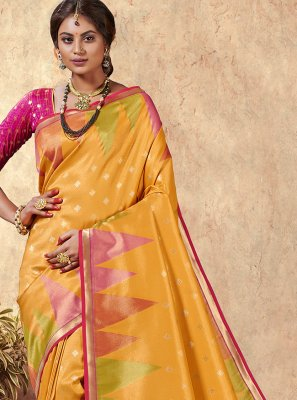 Silk Weaving Contemporary Saree