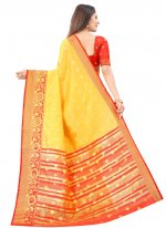 Silk Weaving Designer Traditional Saree in Yellow