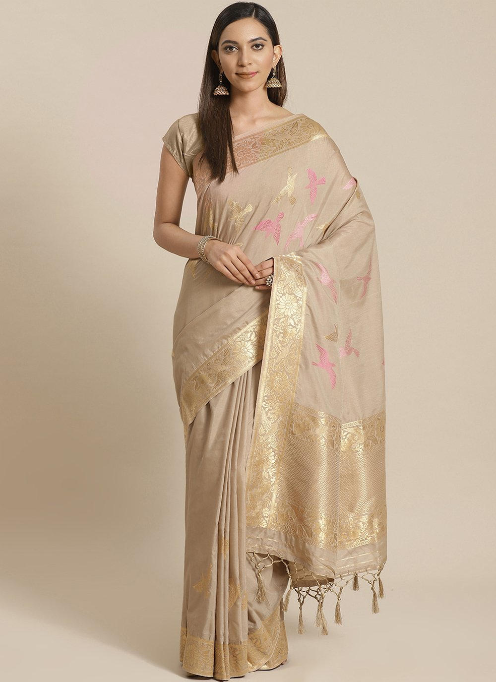 Silk Weaving Traditional Designer Saree