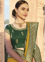 Silk Yellow Traditional Designer Saree