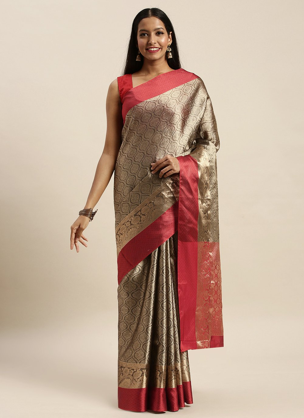 Silver Woven Party Traditional Designer Saree