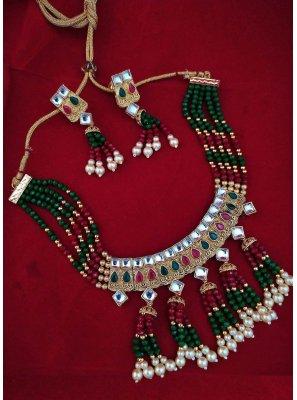 Stone Multi Colour Necklace Set
