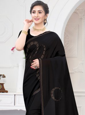 Stone Work Satin Trendy Saree
