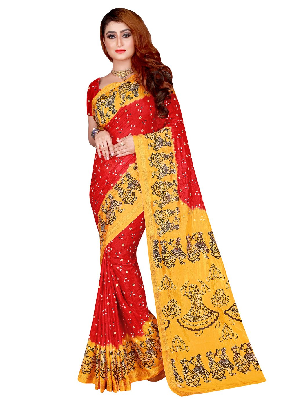 Tafeta Silk Festival Traditional Designer Saree