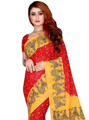 Tafeta Silk Festival Traditional Designer Saree