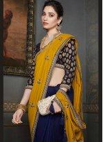 Tamannaah Bhatia Silk Sangeet Designer Half N Half Saree