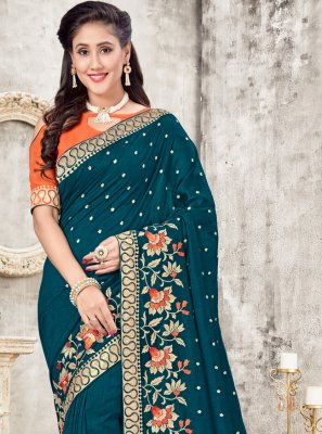 Teal Traditional Saree