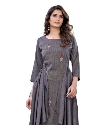 Thread Rayon Party Wear Kurti