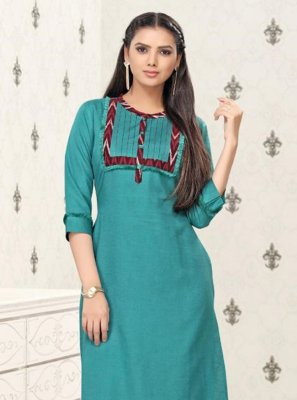 Thread Work Festival Party Wear Kurti