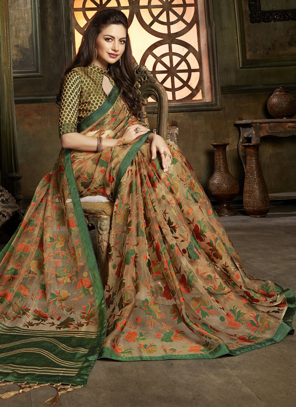 Tissue Ceremonial Designer Saree