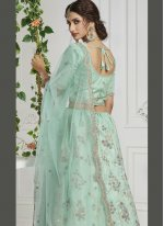 Turquoise Silk Lehenga Choli