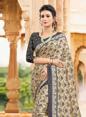 Tussar Silk Digital Print Multi Colour Printed Saree