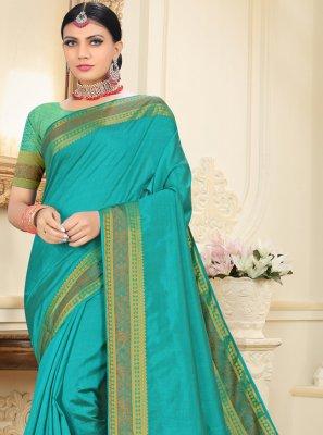Tussar Silk Rama Designer Traditional Saree