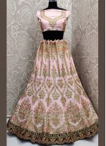 Velvet Embroidered Lehenga Choli