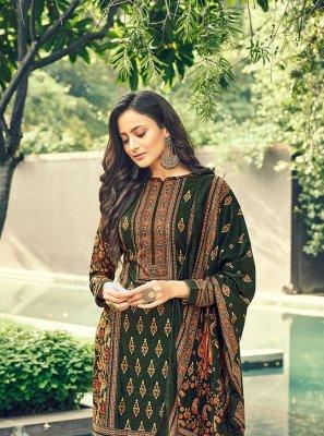 Velvet Green Designer Pakistani Salwar Suit