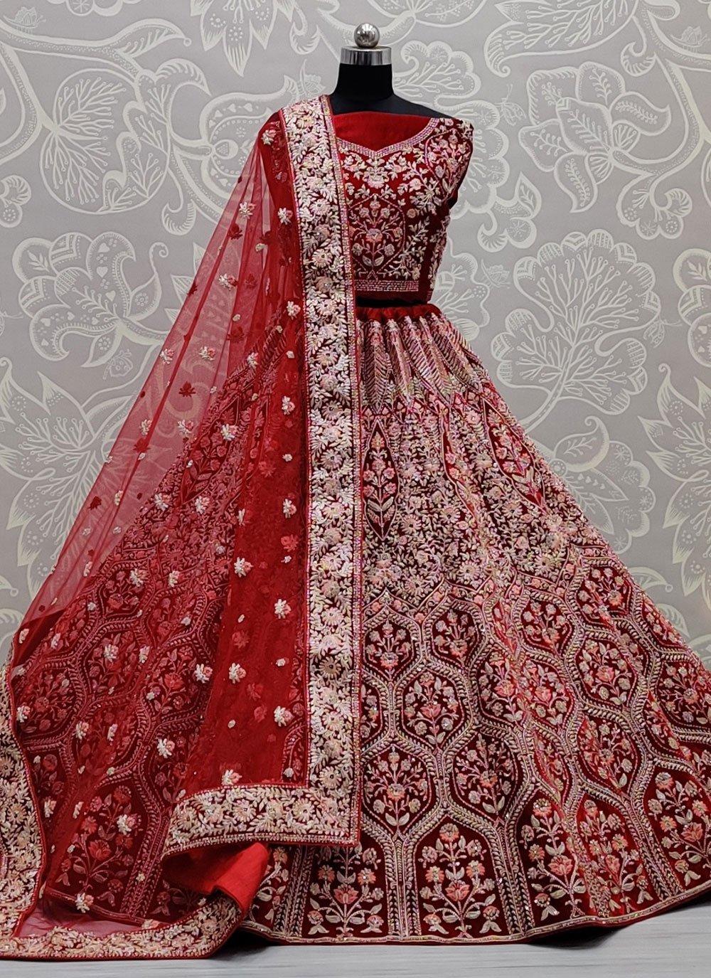 Velvet Mehndi Lehenga Choli