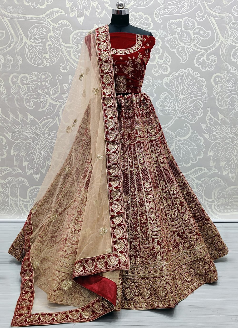 Velvet Patch Border Lehenga Choli